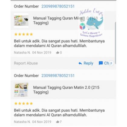 Manual Tagging Quran Matin 2.0 (215 Tagging)