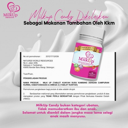 Milk booster Milk Up Candy 40 tablets (NEW with BIRD NEST)