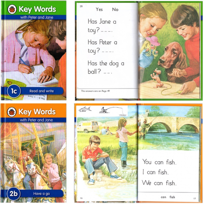 Complete Set Keywords with Peter and Jane books